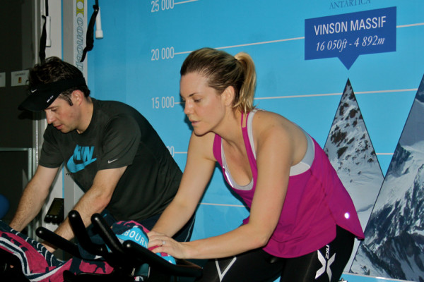 Whitney Hammond McLaren and Stuart McLaren in the ProSport Health & Fitness altitude chamber in the lead up to their recent wedding